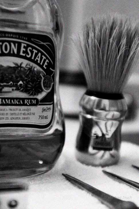 Shaving at home